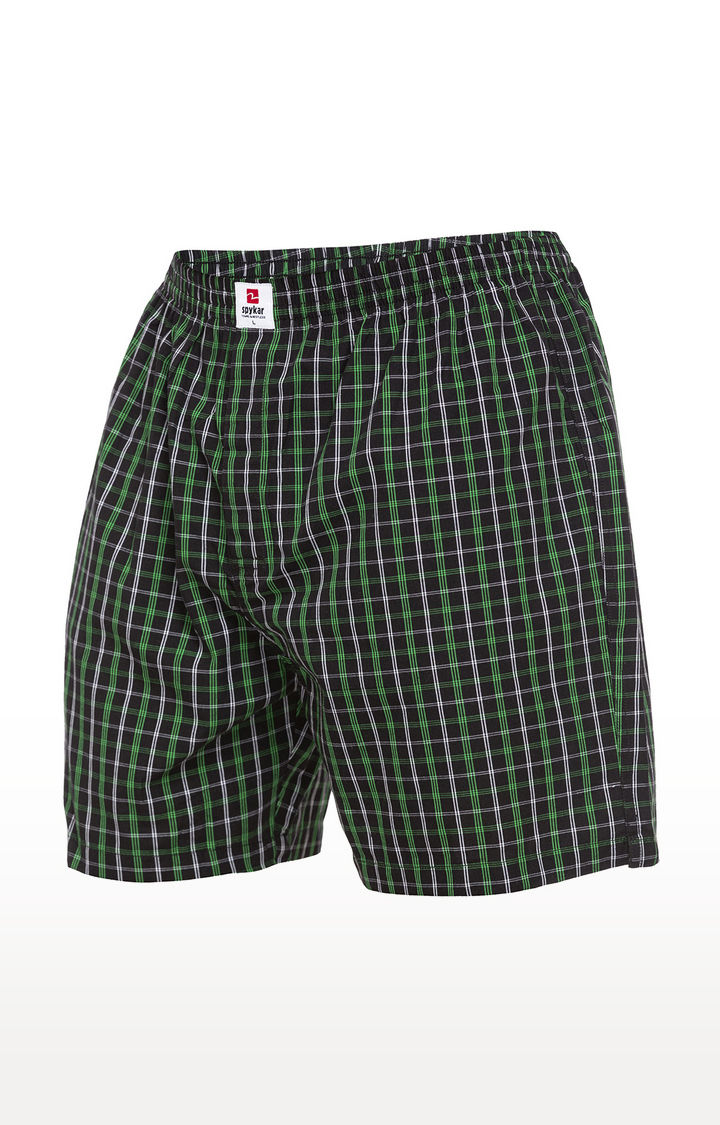 Green Checked Slim Fit Boxers