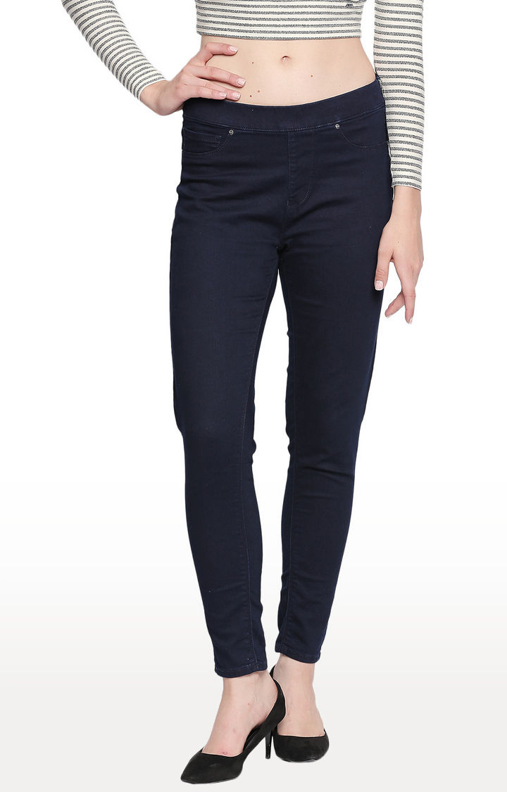 Indigo Solid Skinny Fit Jeans