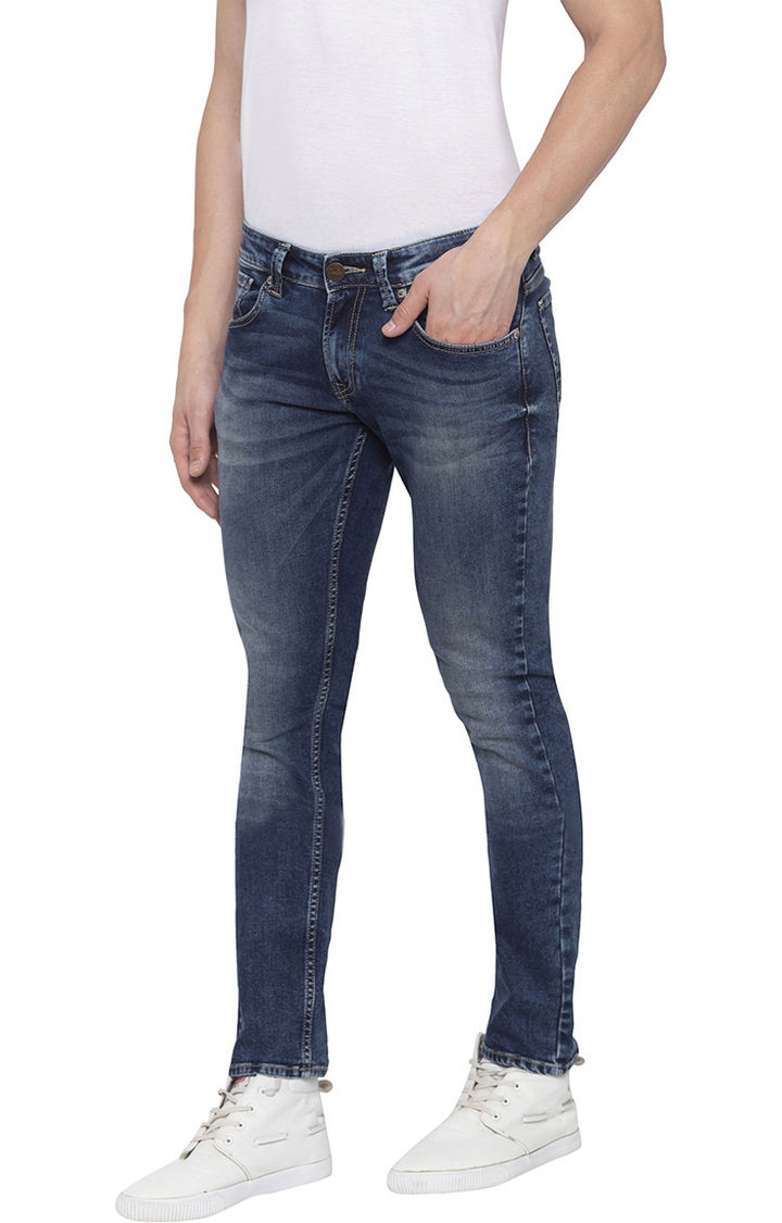 Tinted Solid Skinny Fit Jeans