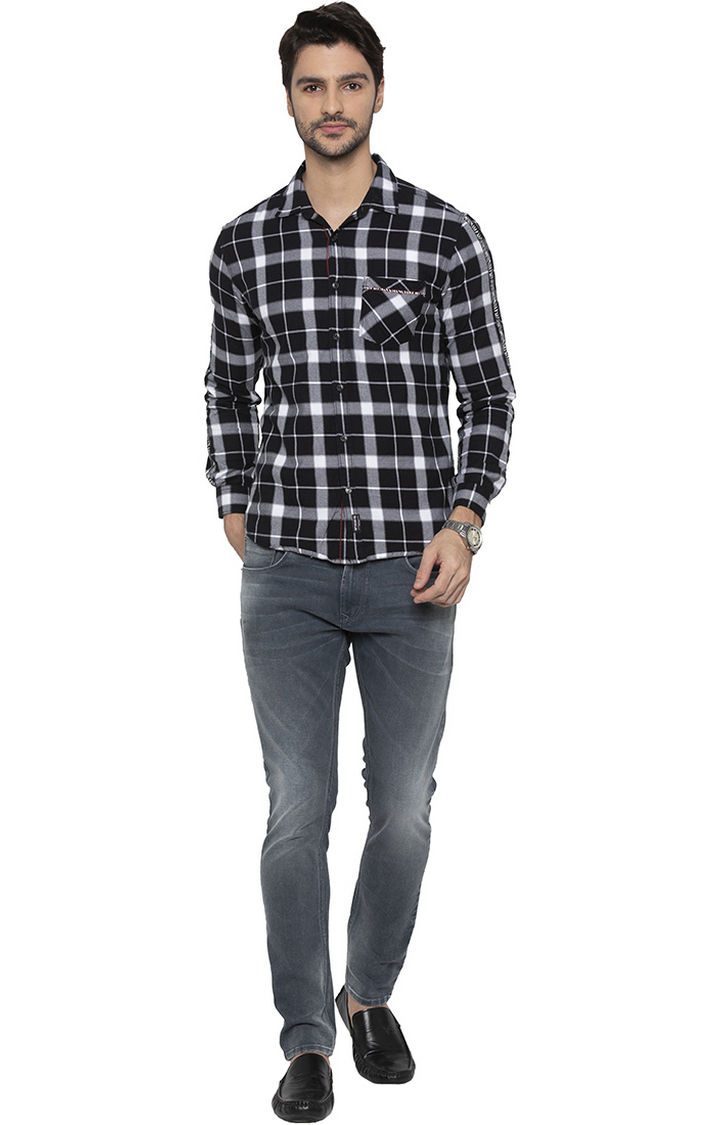 Ash Smoke Solid Super Skinny Fit Jeans
