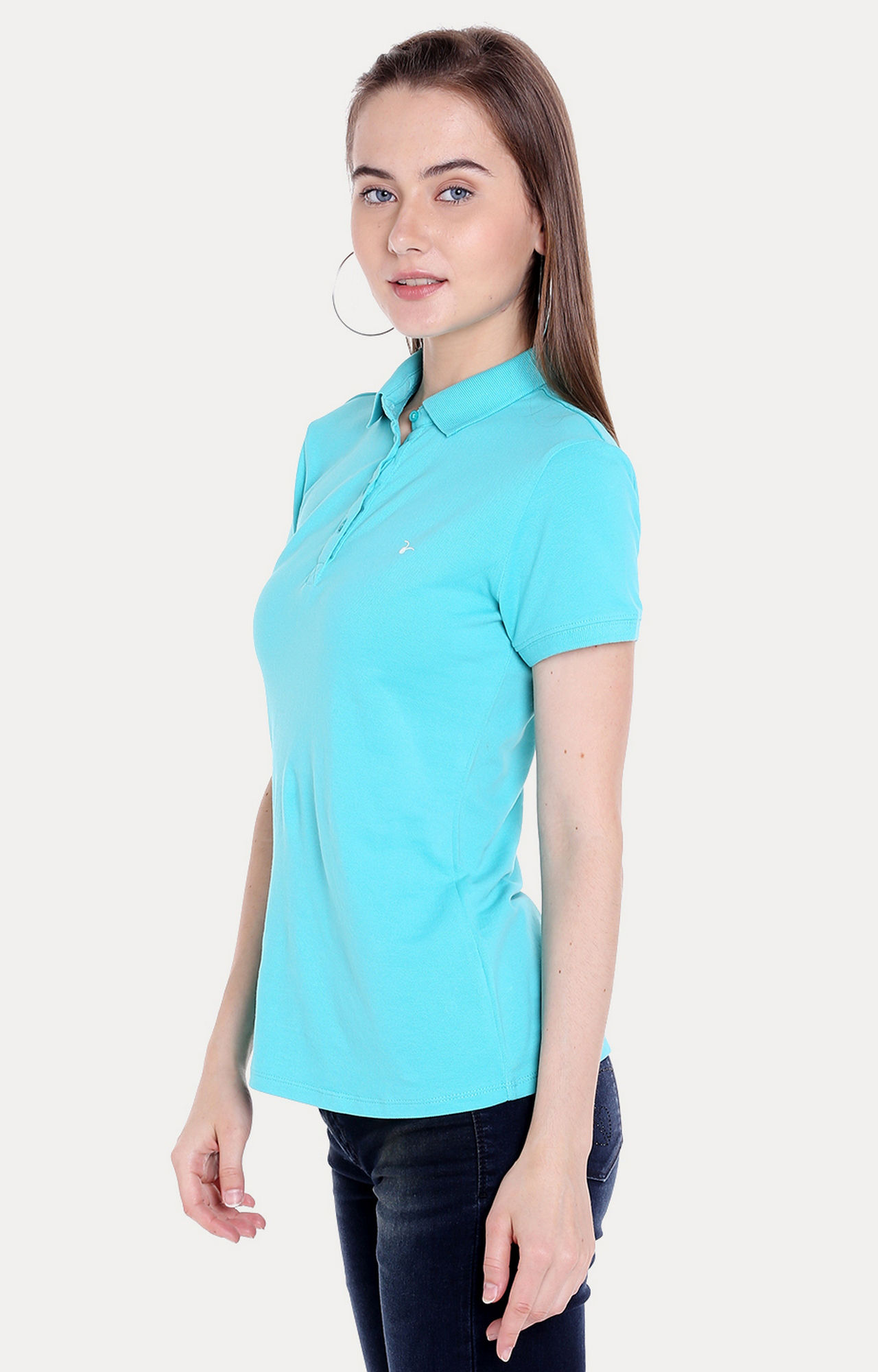 Blue Solid Regular Fit T-Shirts