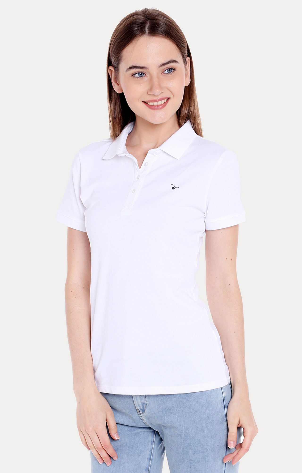 White Solid Regular Fit T-Shirts