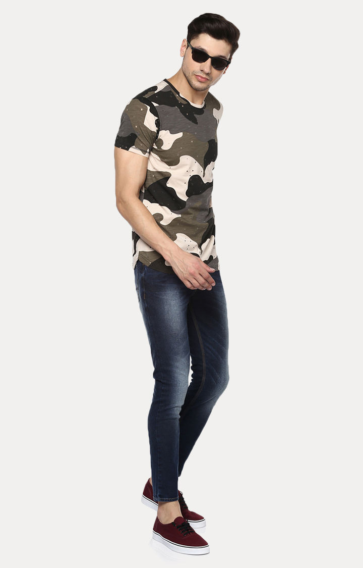 Olive Camouflage Slim Fit T-Shirts