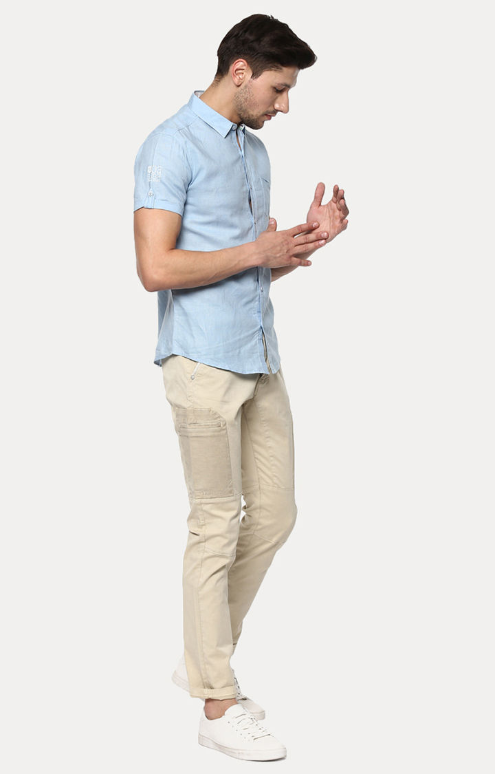 Fawn Solid Slim Fit Chinos