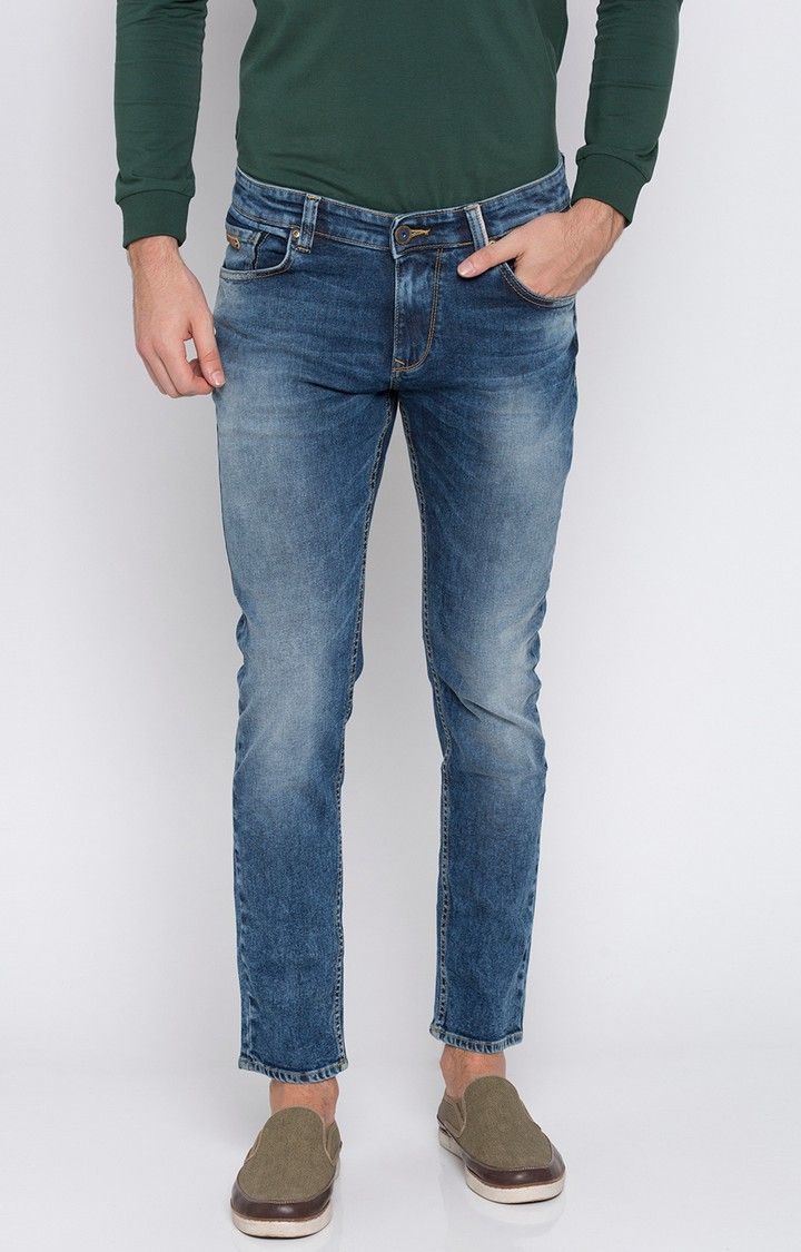 Blue Solid Super Skinny Fit Jeans