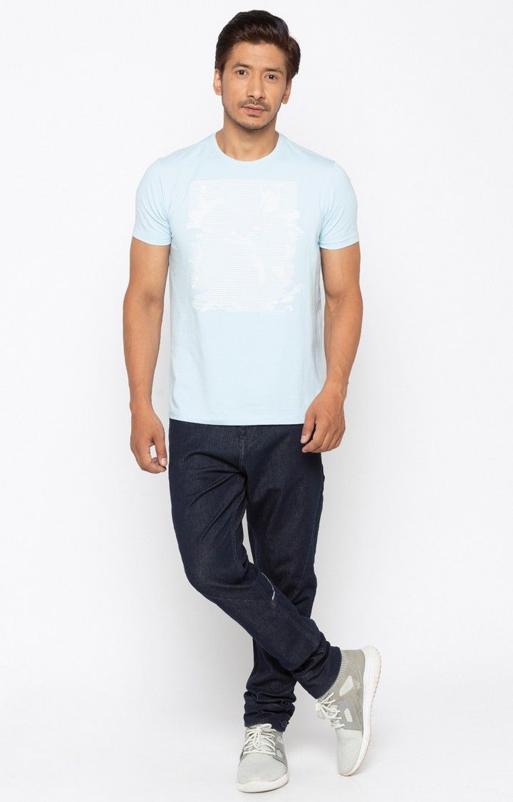Raw Blue Solid Slim Fit Jeans