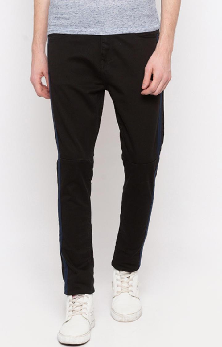Black Solid GYMJNS Fit Jeans