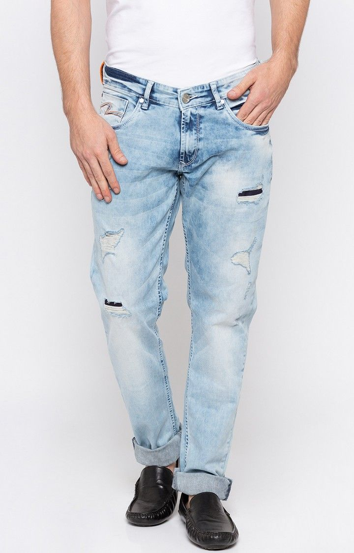 Light Blue Ripped Skinny Fit Jeans