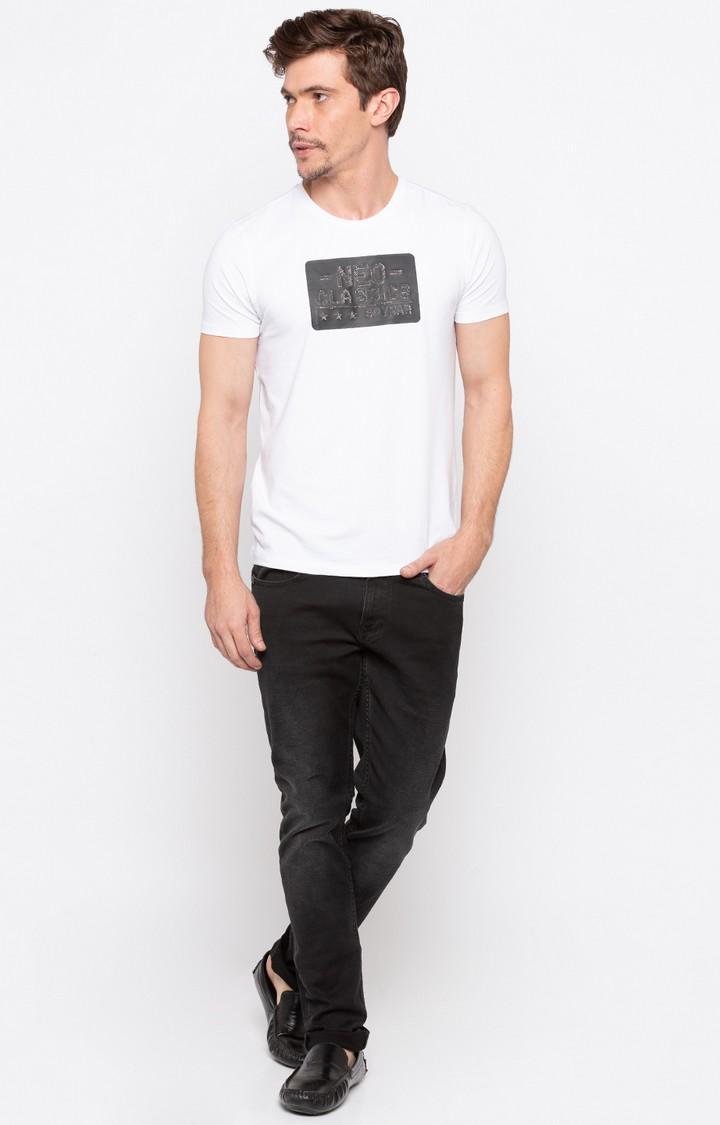 Carbon Black Solid Skinny Fit Jeans