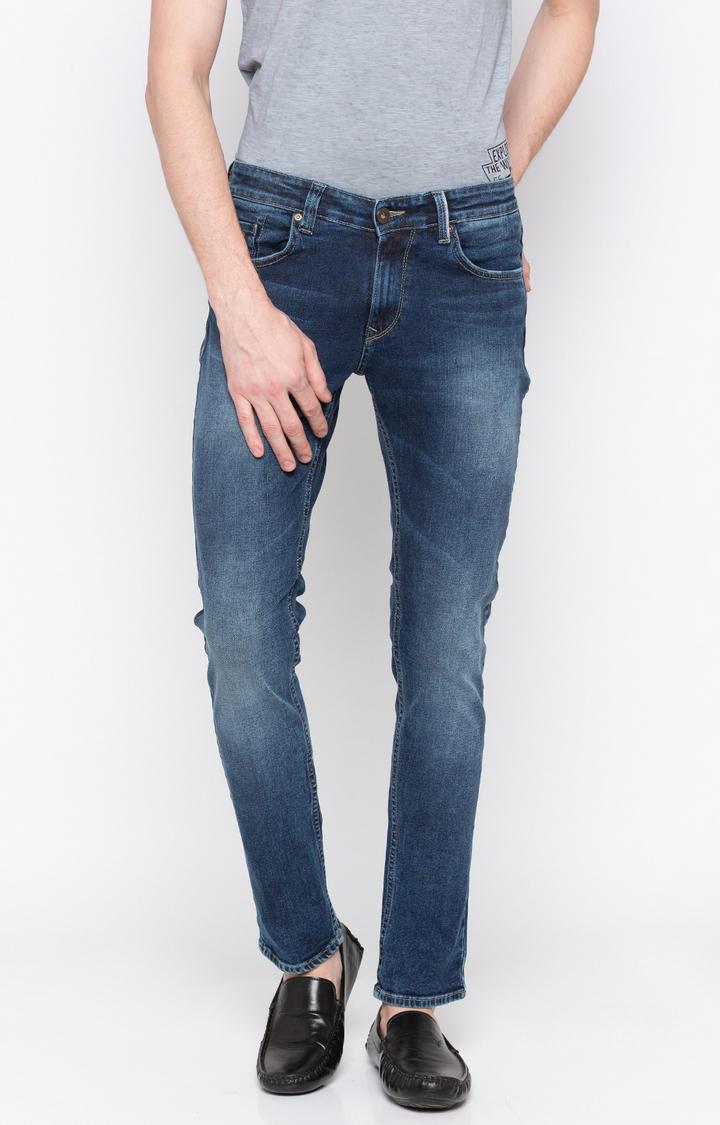 Vintage Solid Skinny Fit Jeans