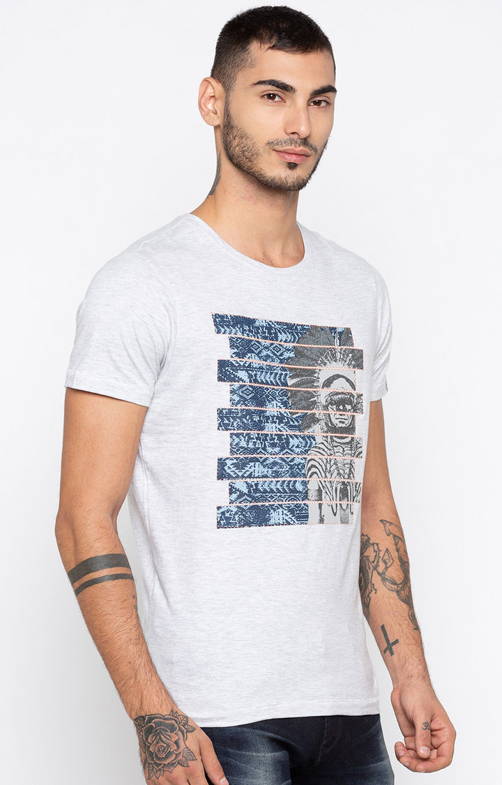 Ash Printed Slim Fit T-Shirts