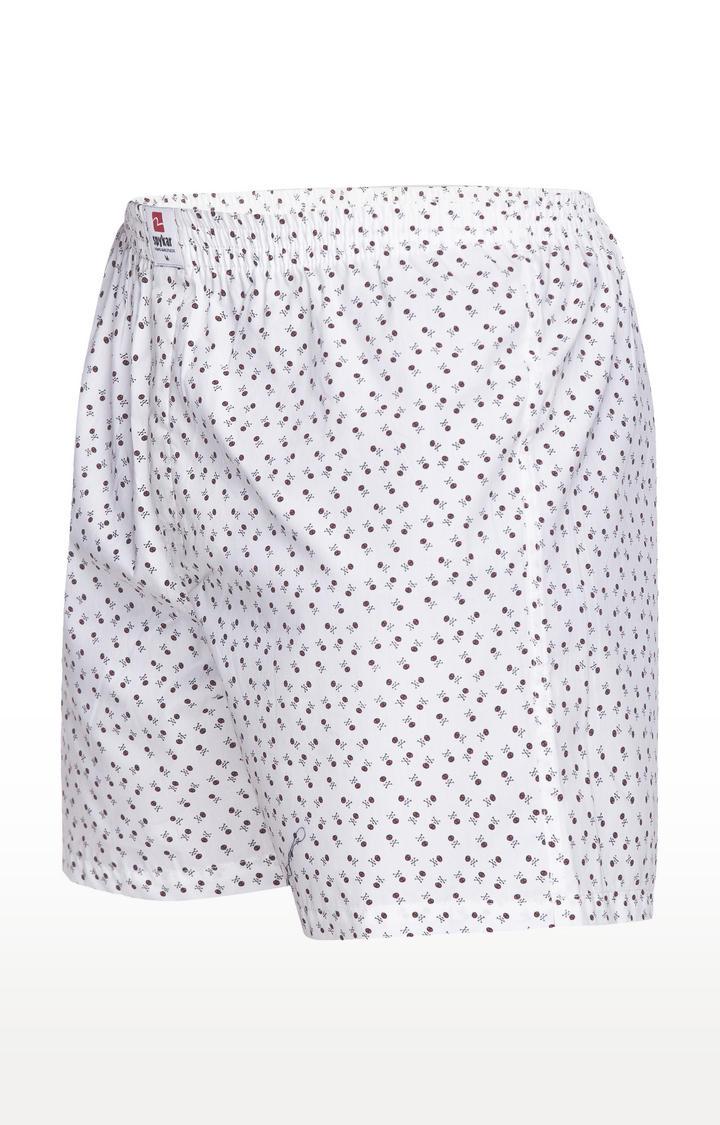 White Printed Slim Fit Boxers