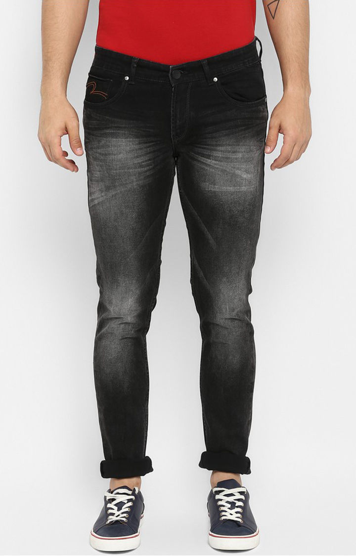 Black Solid Skinny Fit Jeans