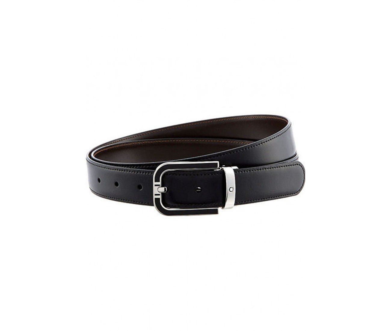 Classic Line 30 mmPalladium Coated With Black Inlay Pin Buckle