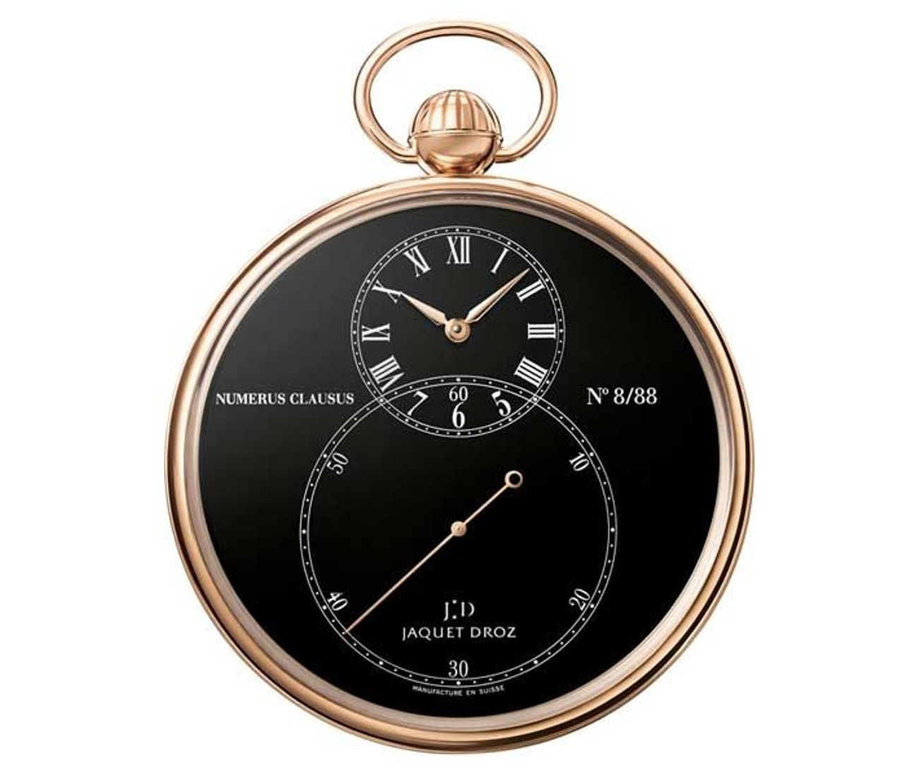 The Pocket Watch Black Enamel