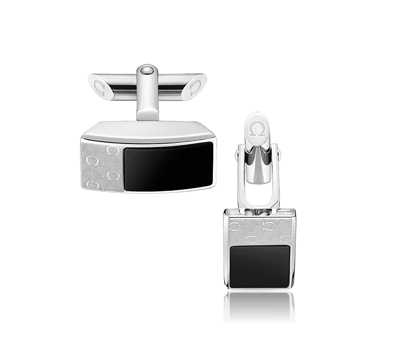 Stainless Steel  Black Onyx Cufflinks