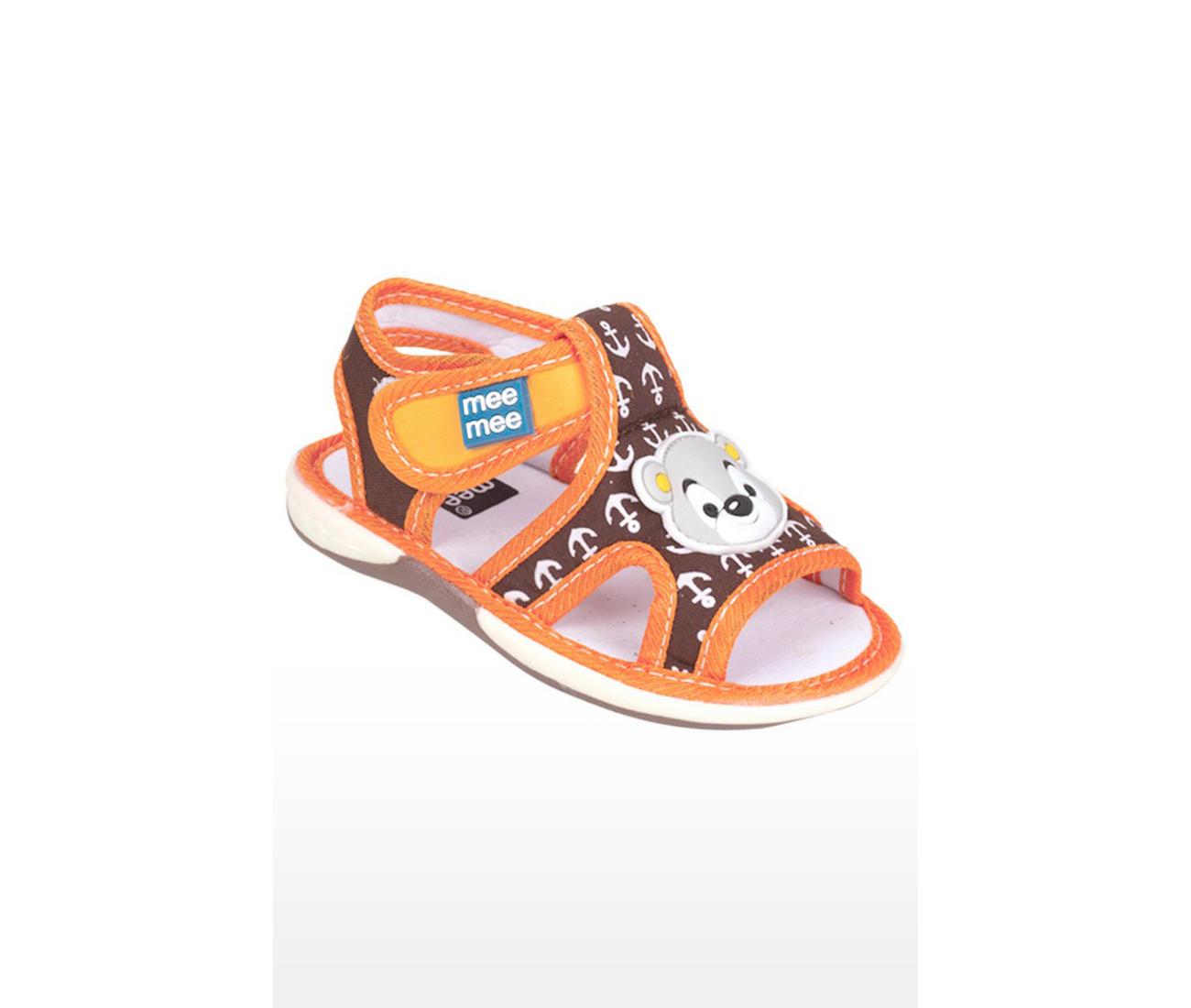 Orange and Brown Sandals