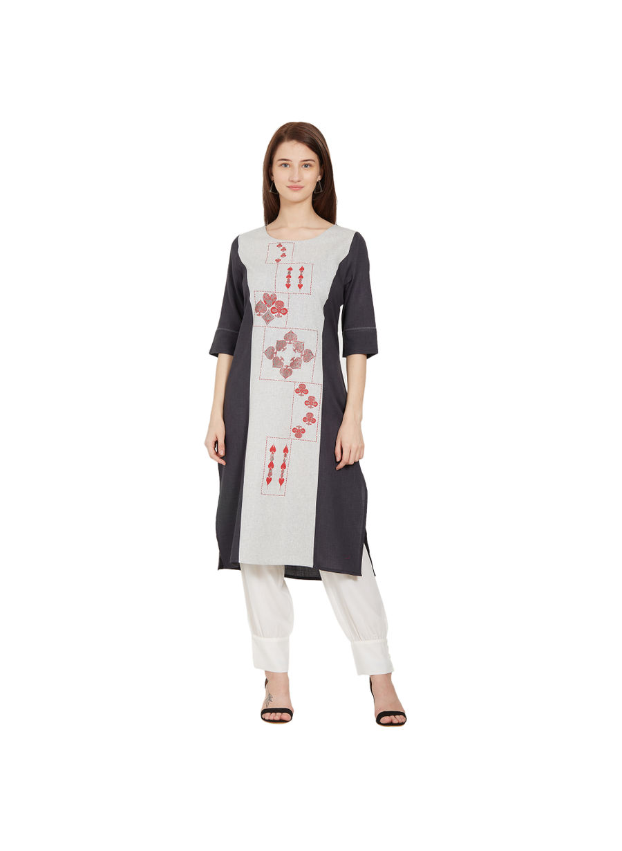 Desi Belle Black Printed Women Kurti