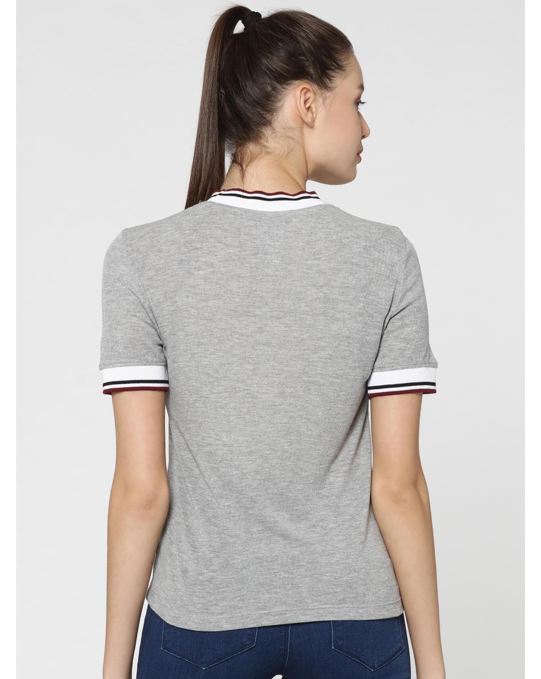 fdd7e5bb8112 Buy ONLY X Harry Potter Light Grey High Neck Varsity T-Shirt Online ...