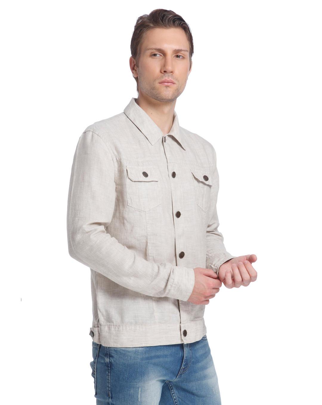 best loved d2c91 d2950 Buy Jack & Jones Beige Linen Jacket online|Jack & Jones