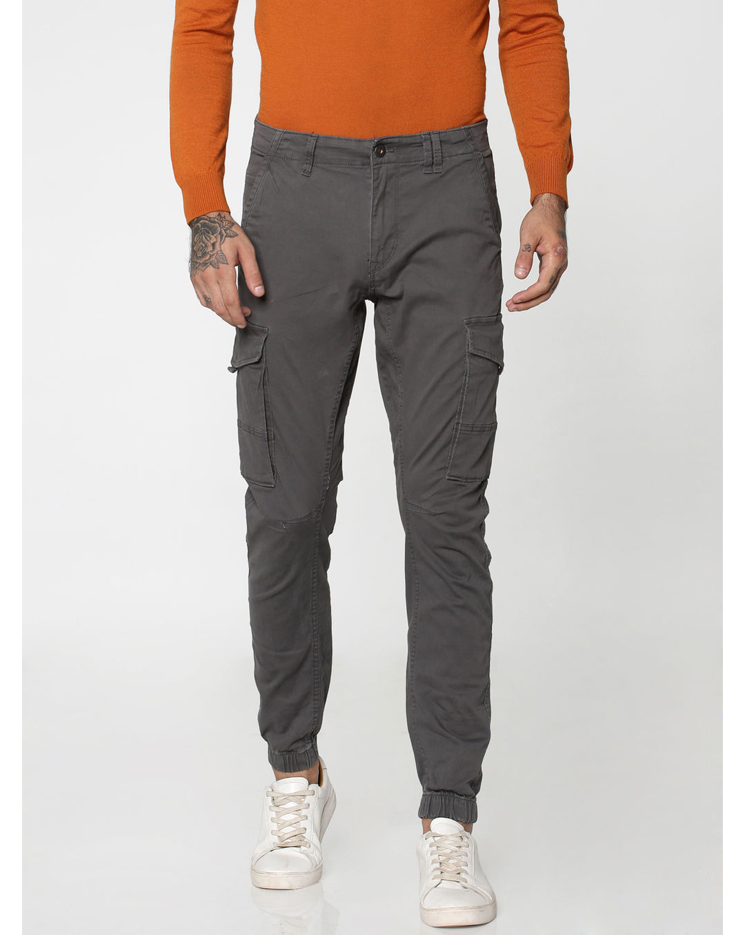 quality design 96bf7 2015f Buy Jack & Jones Grey Anti-Fit Cargo Pants Online | Jack & Jones