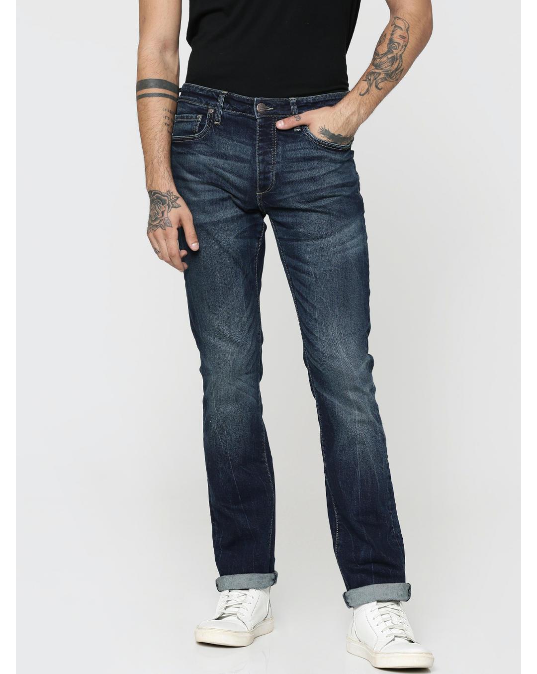 echte Qualität klassische Stile Entdecken Sie die neuesten Trends Buy Jack & Jones Dark Blue Clark Regular Fit Jeans Online ...