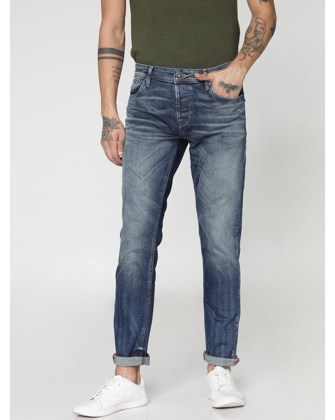 Größe 40 schönen Glanz Waren des täglichen Bedarfs Buy Jack & Jones Blue Heavily Washed Tim Slim Fit Jeans ...