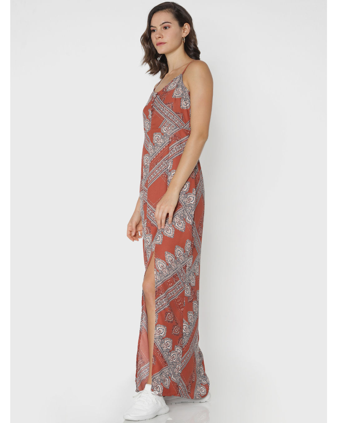 966f28fd0bb4a Buy ONLY Brown All Over Print Maxi Dress Online | ONLY