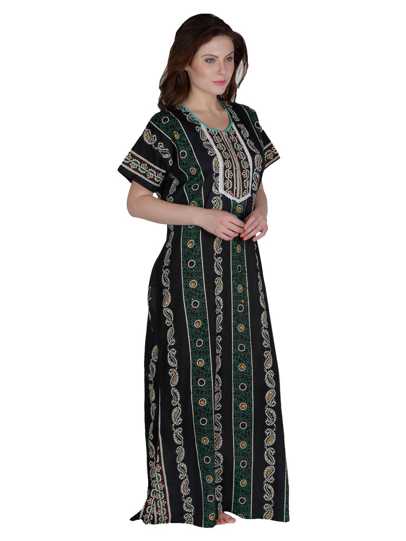 Secret Wish Women's Cotton Green Nighty, Nightdress (Free Size, NT-78)