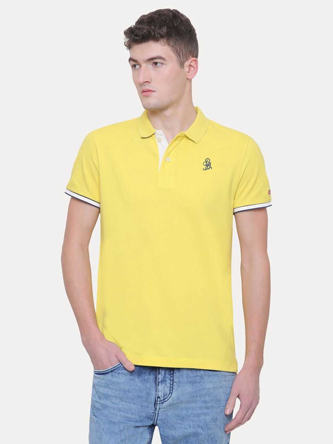 SUN YELLOW SOLID T-SHIRT