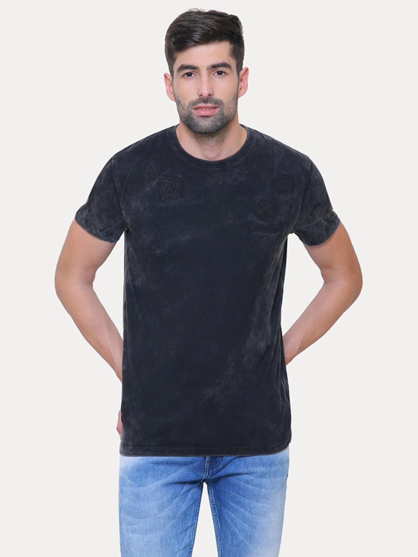 7cf77d8f5816 BLACK SOLID T-SHIRT