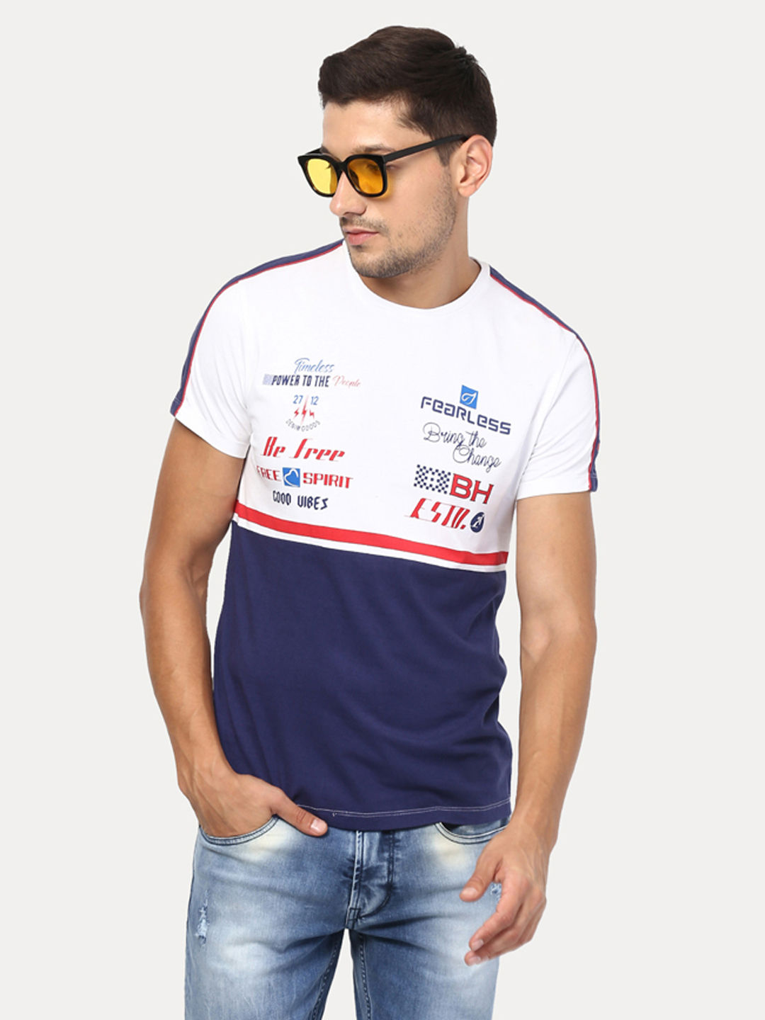 COLOURBLOCKED SPORTY T-SHIRT