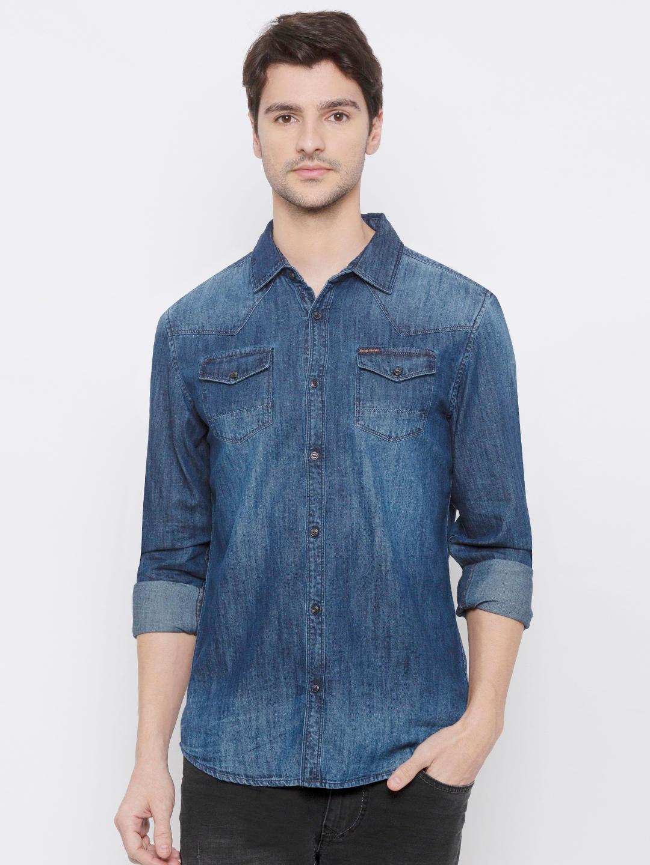 Men's Denim Long sleeve comfort fit  Shirt