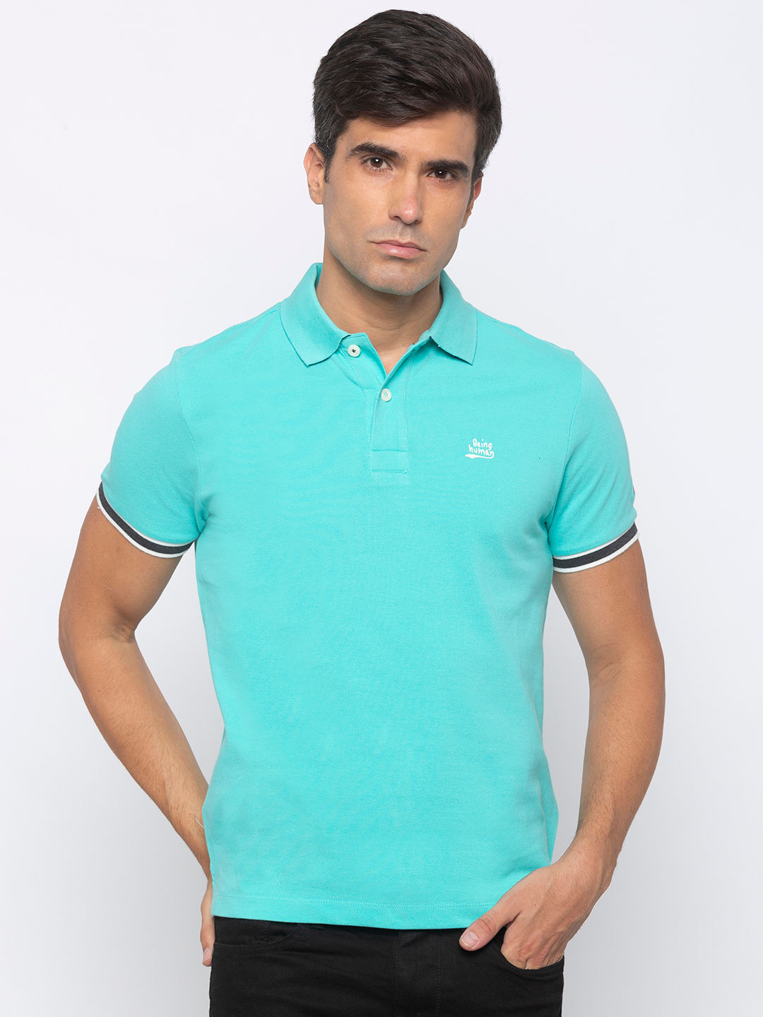 Mens Short Sleeve Polo Neck with Emb