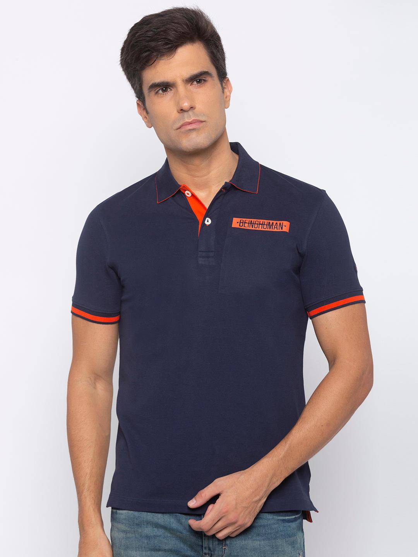 Mens short sleeve lycra Polo