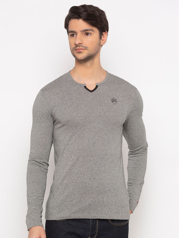 Mens Long Sleeve Crew Neck T-shirt with Matt HD print