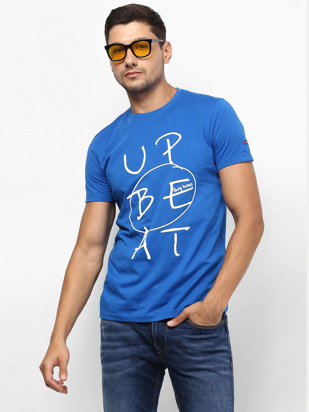 INK BLUE PRINTED T-SHIRT