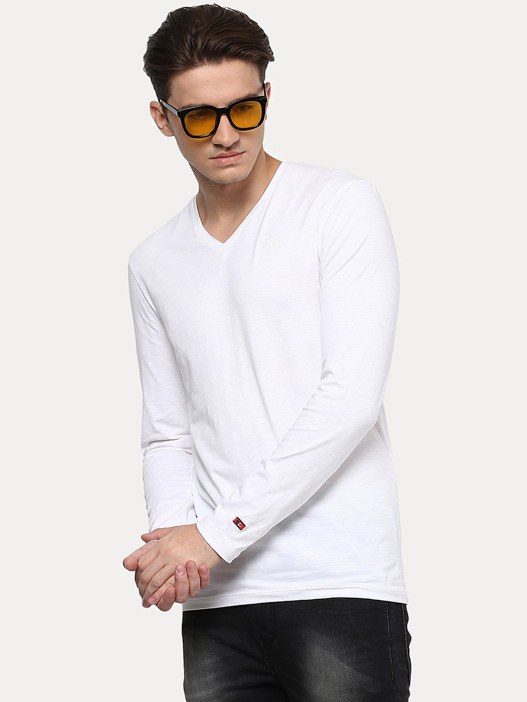 WHITE SOLID T-SHIRT