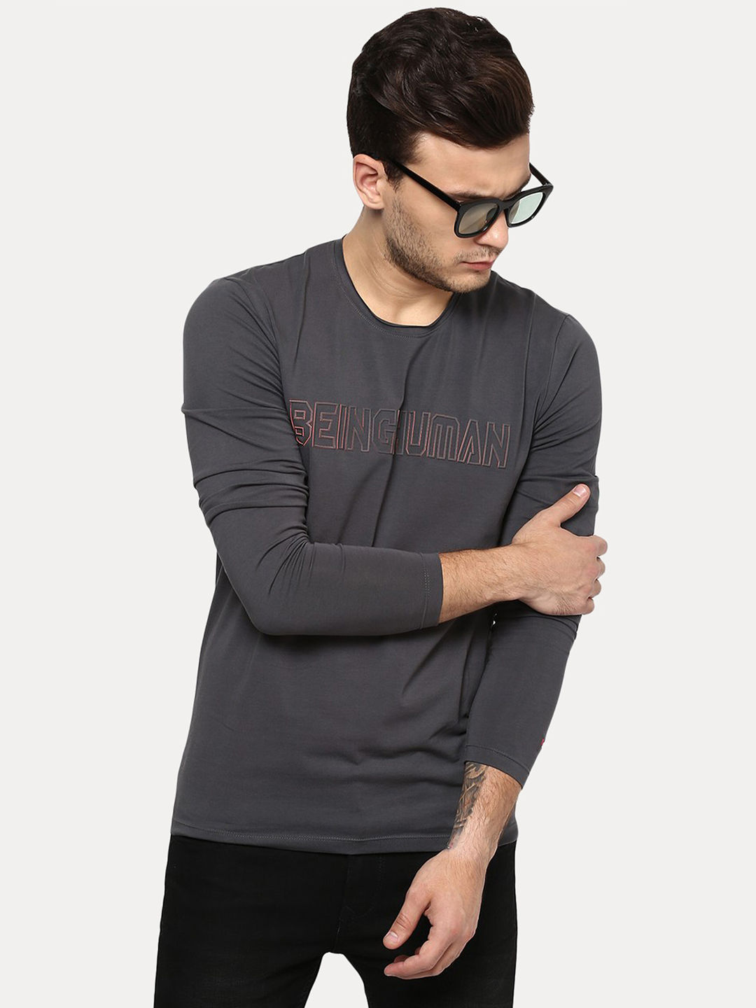 DARK GREY SOLID T-SHIRT