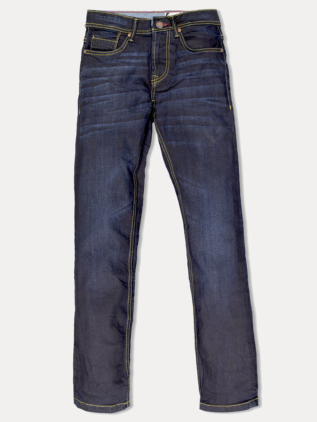DARK BLUE SOLID STRAIGHT JEANS