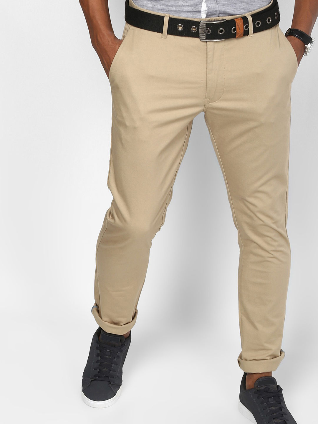 SAND SOLID STRAIGHT CHINOS