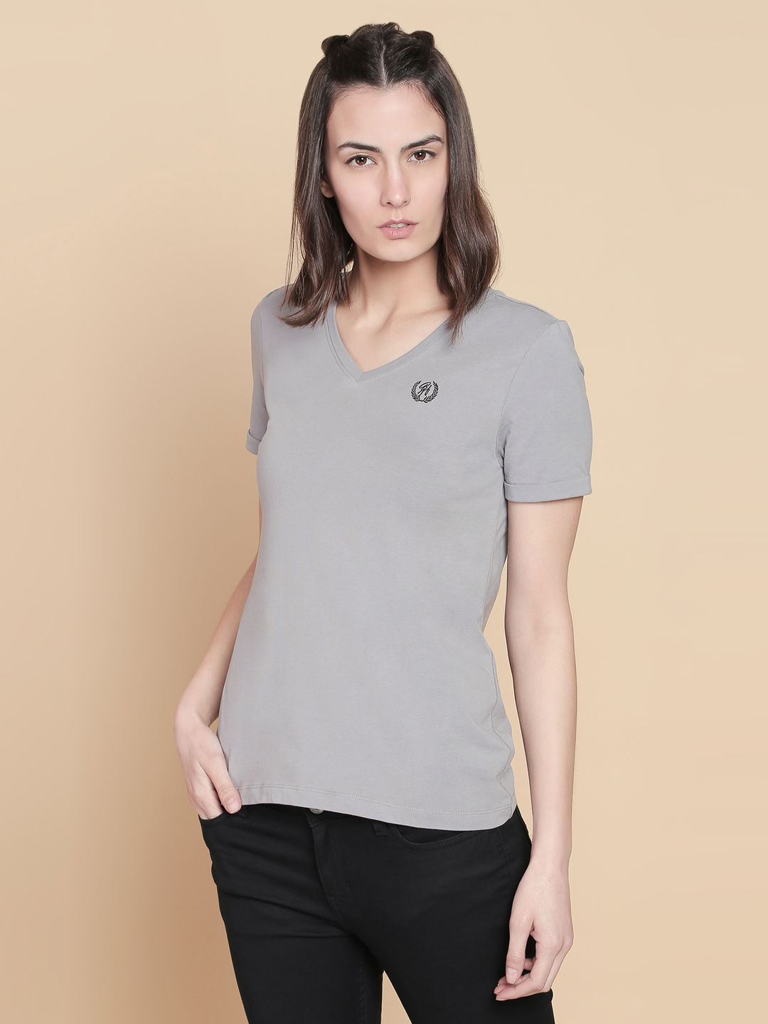 FROST GREY SOLID T-SHIRT