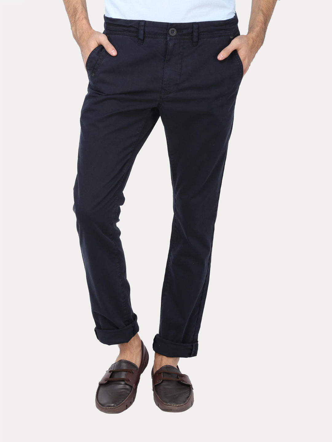 DARK BLUE CASUAL CHINOS