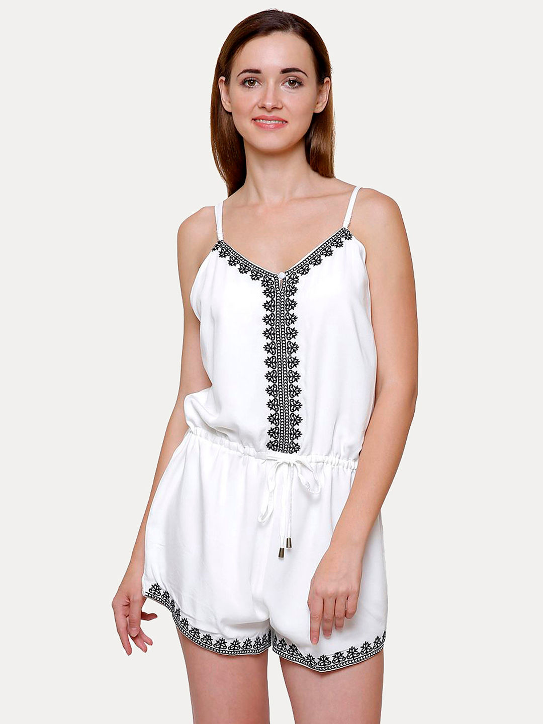 OFF WHITE PRINTED JUMPSUIT