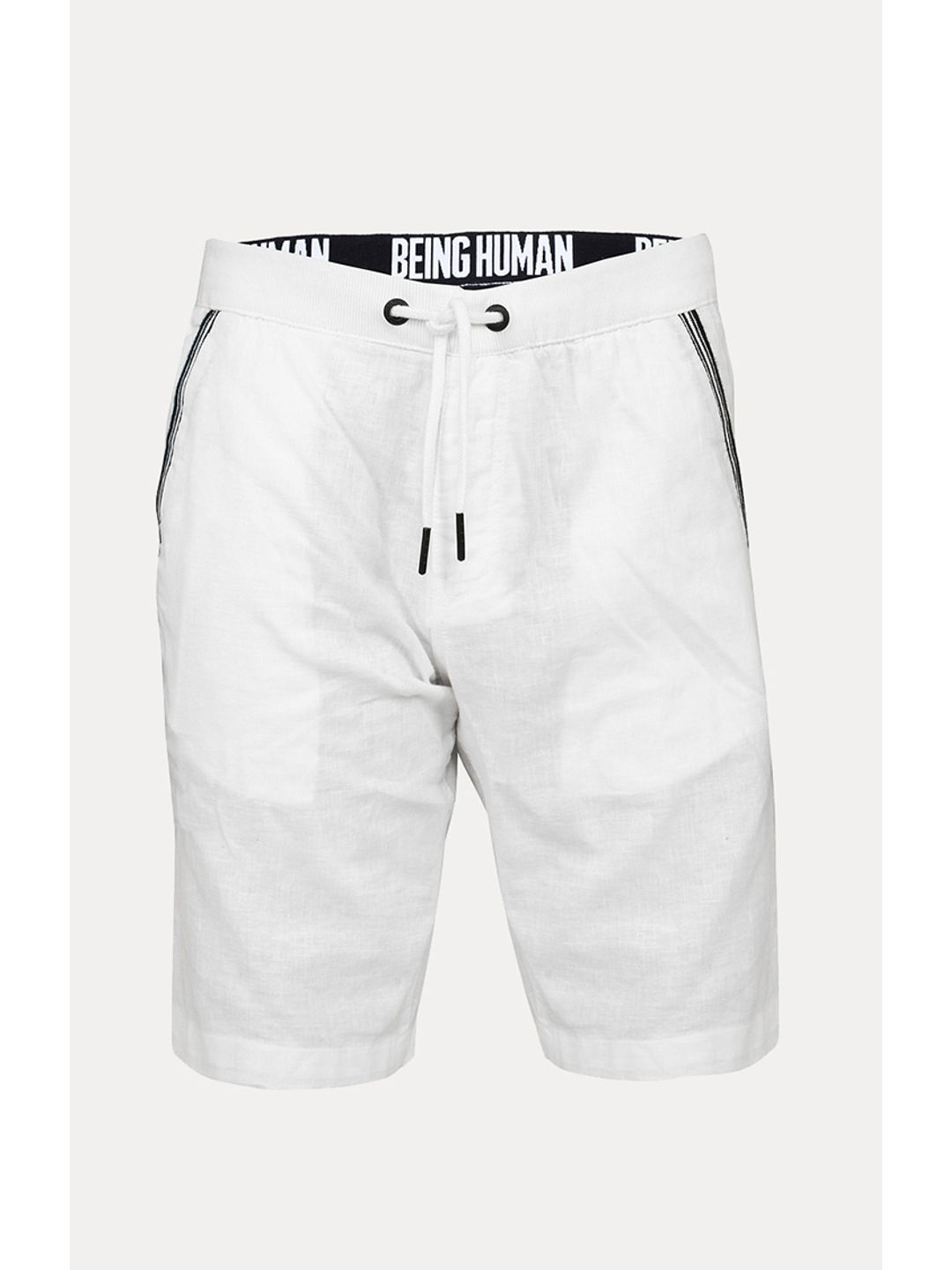 f5a1a0cb9f WHITE SOLID SHORTS