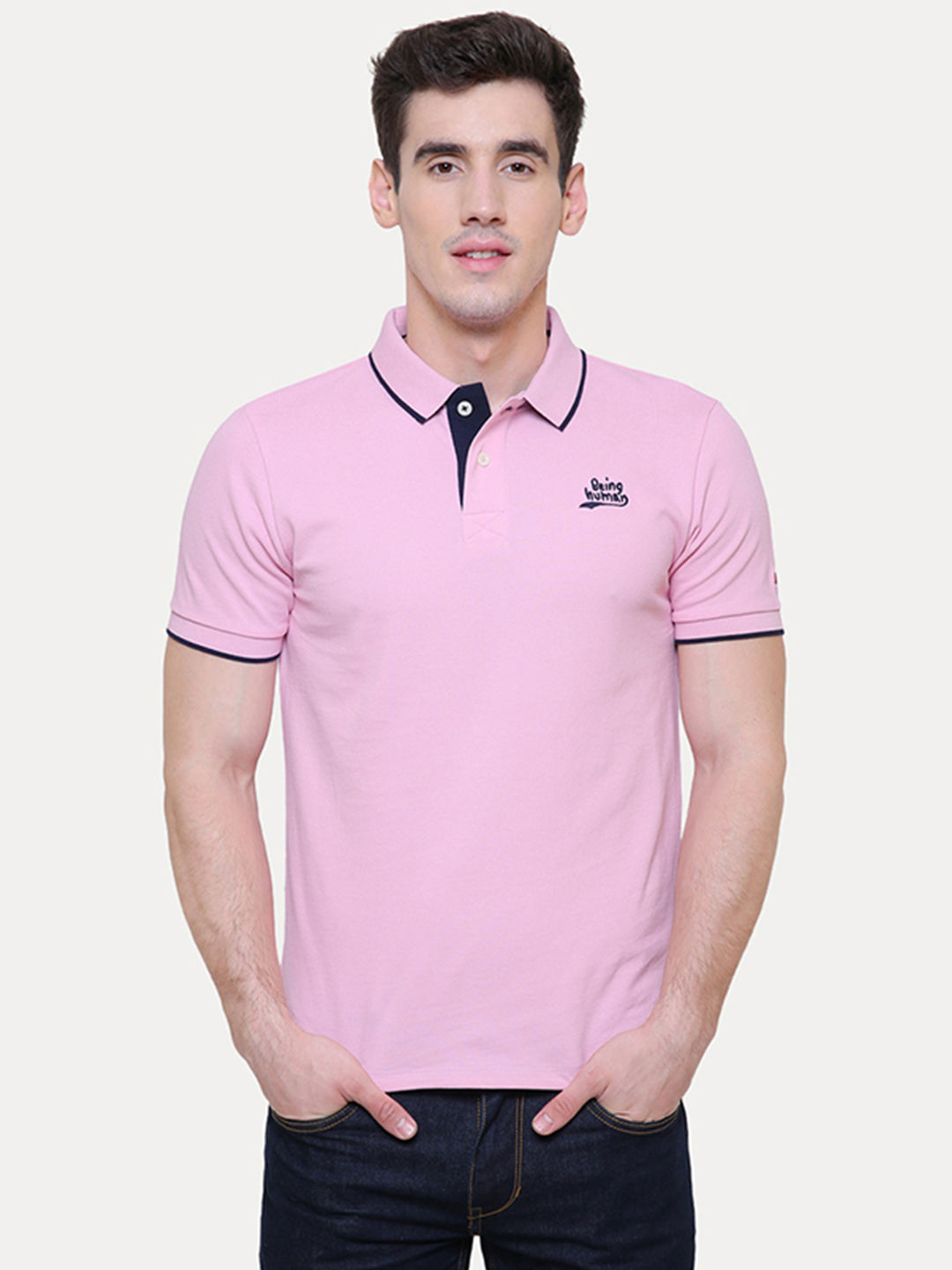 LILAC SOLID POLO T-SHIRT