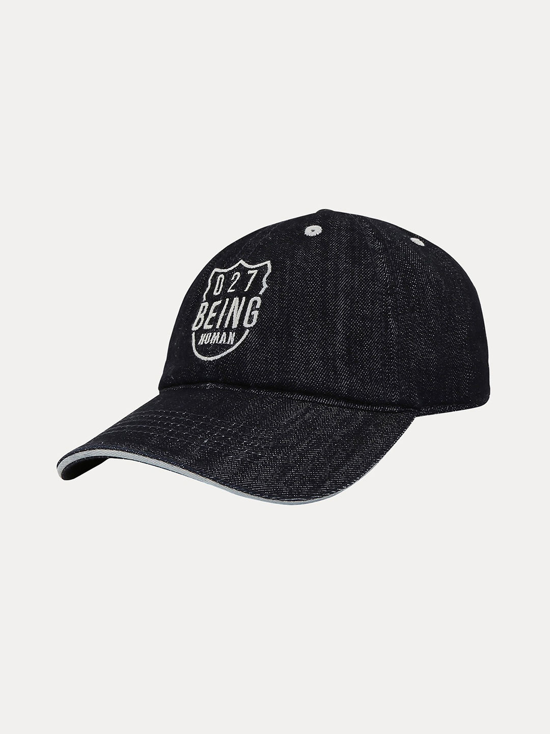 BLACK PRINTED BASEBALL CAP