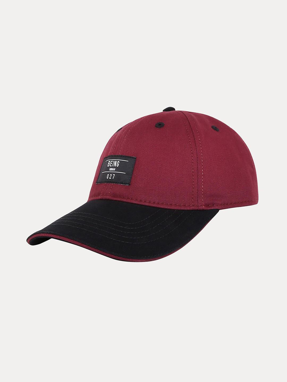 WINE SOLID BASEBALL CAP