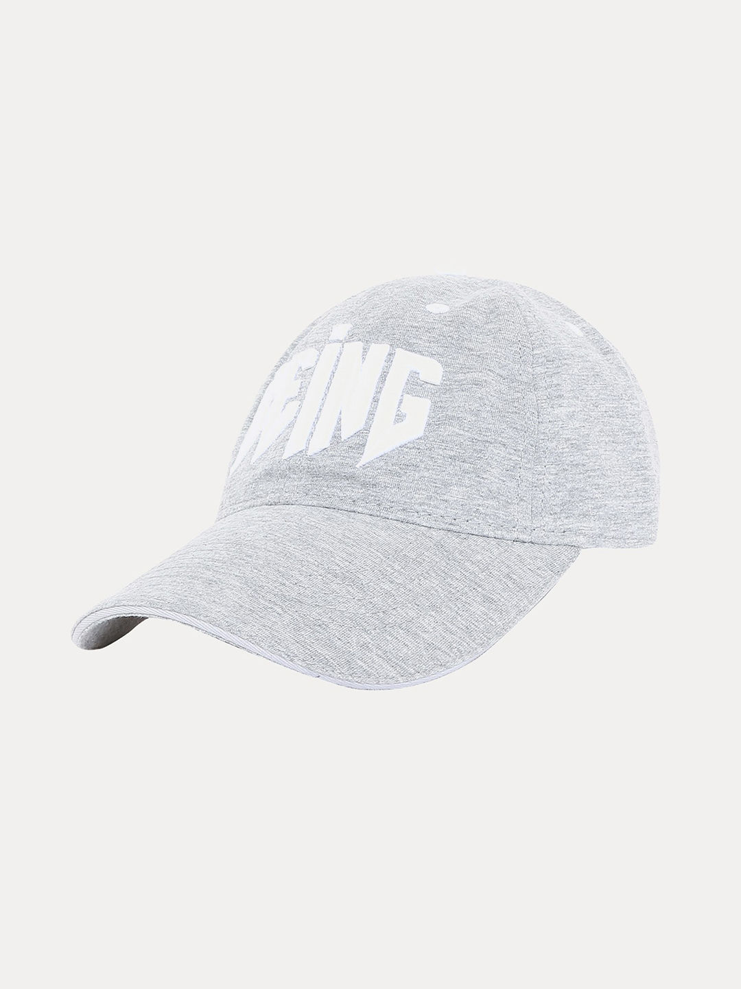 GREY PRINTED BASEBALL CAP