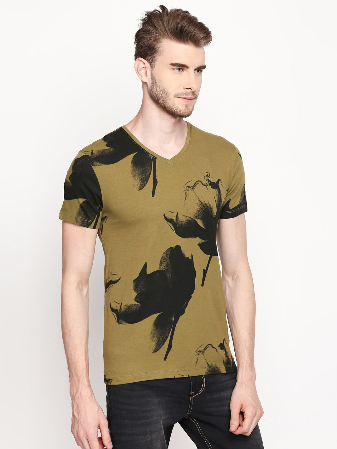 OLIVE PRINTED T-SHIRT